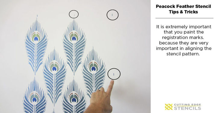 Learn How To Stencil The Pea Feather Pattern Hometalk