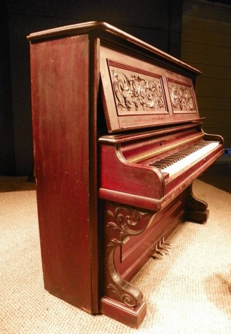 It almost looks like it used to be part of an Old Ivers & Pond Mahogany Victorian Upright Piano???