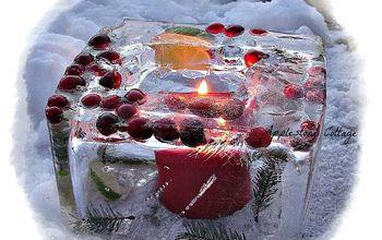 How to Make Ice Luminaries.