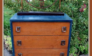 simple and handsome vintage dresser makeover paintedfurniture wood, painted furniture, When all was said and done I painted slightly distressed and waxed and buffed the base and waxed the drawer fronts I love the new look while keeping the vintage feel