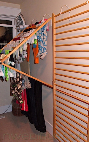 Diy Wall Mounted Clothes Drying Rack Repurposing Upcycling Urban Living The Hinges