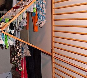 Diy Wall Mounted Clothes Drying Rack, Repurposing Upcycling, Urban Living,  The Rack Hinges