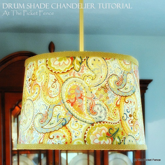 DIY Drum Shade Chandelier Tutorial