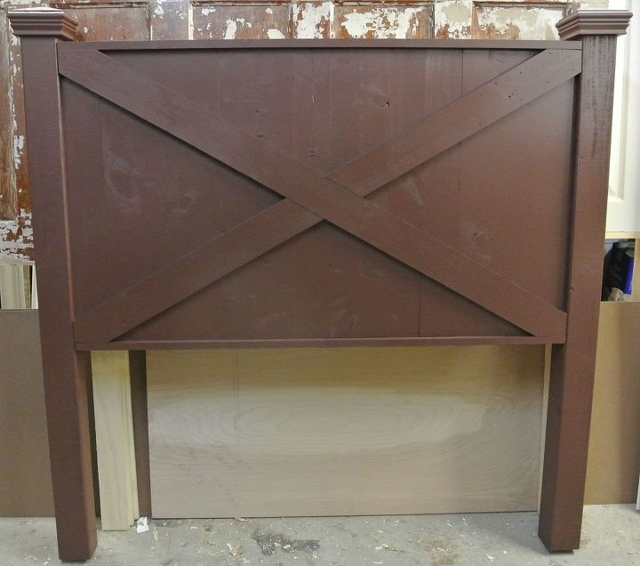 Distressed Barn Door Style Headboard By Vintage Headboards Painted Furniture