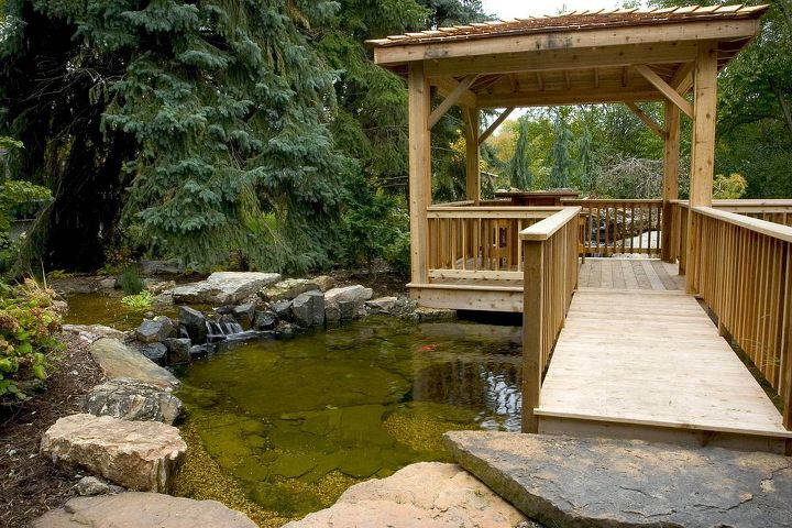 When all elements of an ecosystem pond are combined, water stays clean and clear.