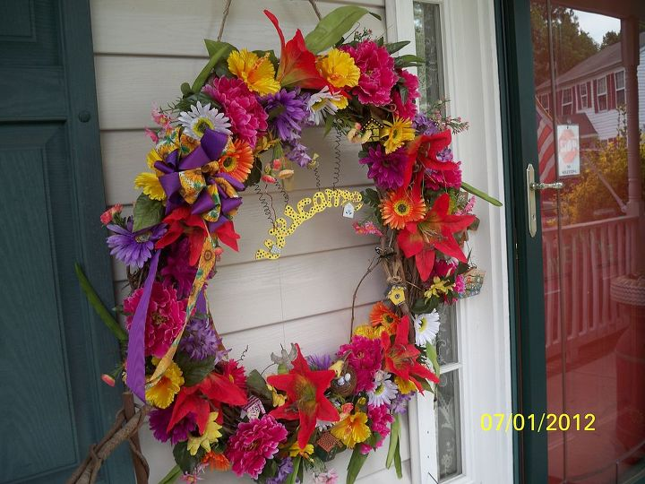 2012 Editon - Summer Wreath Re-do BRIGHT & BOLD
