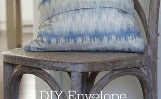 diy envelope pillow cover tutorial with sewing graphic printable, crafts, home decor, reupholster