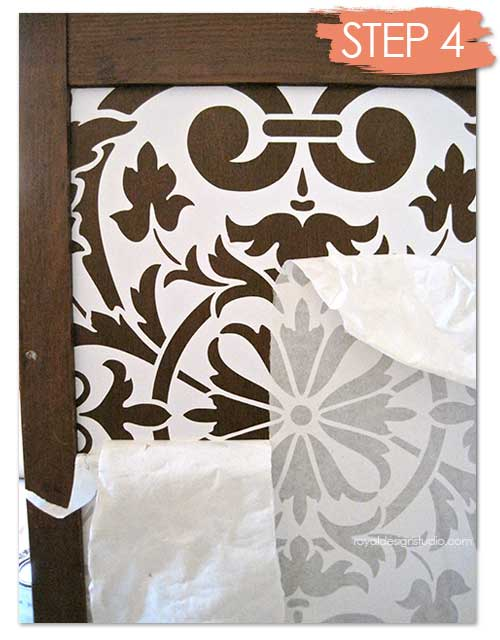 An ornamental vinyl stencil design from our sister company Modello Designs is the perfect complement to the Moorish Fleur de Lis. http://www.modellodesigns.com/Category.asp?cat_idno=3&type_idno=2