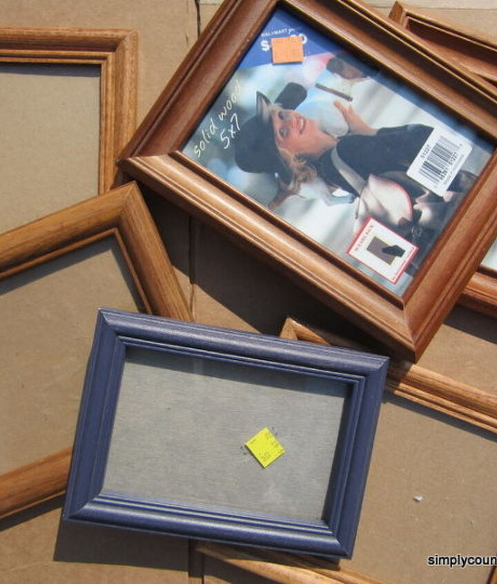 turn thrift store frames and burlap into collage wall art, crafts, home decor, repurposing upcycling, Goodwill frames
