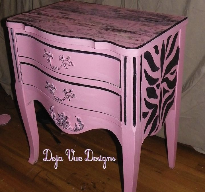 tutorial on aging paint technique and a rescued night stand, home decor, painted furniture
