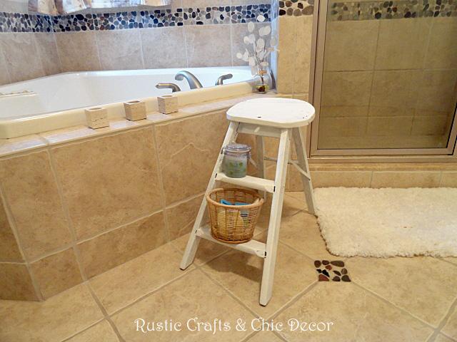 Wondrous A Step Ladder For A Bathroom Stool Hometalk Machost Co Dining Chair Design Ideas Machostcouk