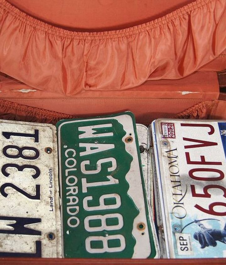 Storage for my license plates.