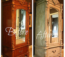 transforming a wood armoire into a painted treasure, chalk paint, painted furniture