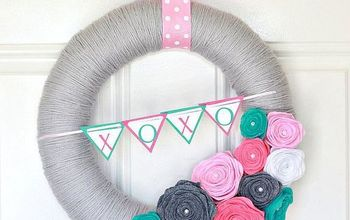 valentine s day wreath, crafts, seasonal holiday decor, valentines day ideas