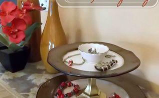 diy tiered jewelry tray, crafts