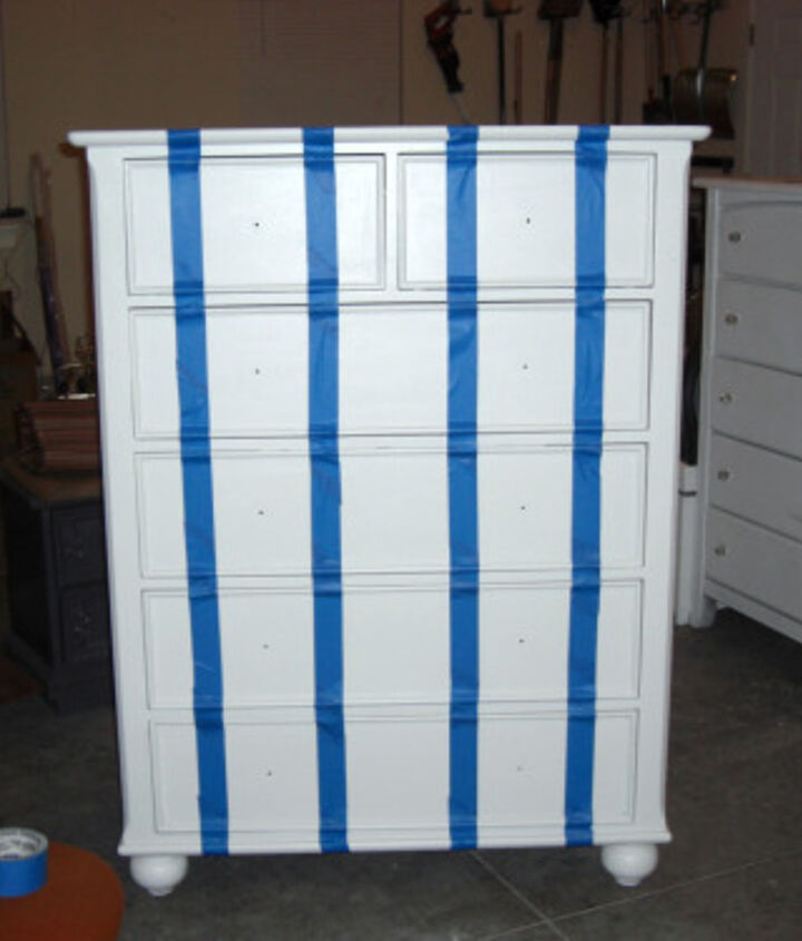 Taped dresser off with painters tape