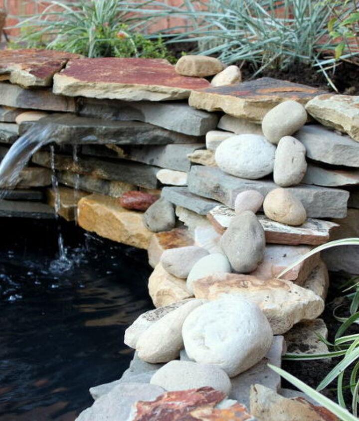 diy backyard pond amp landscape water feature, landscape, outdoor living, patio, ponds water features