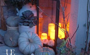 fall porch, curb appeal, porches, seasonal holiday decor