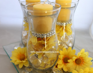 Hurricane Vases Candle Daisy Centerpiece Home Decor Seasonal Holiday