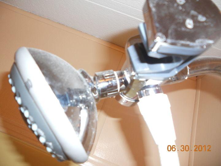 q help with shower head, bathroom ideas, plumbing