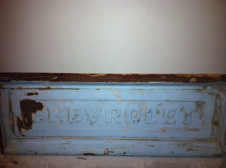 BEFORE:  Rusty old Tailgate found in an antique shop for $75