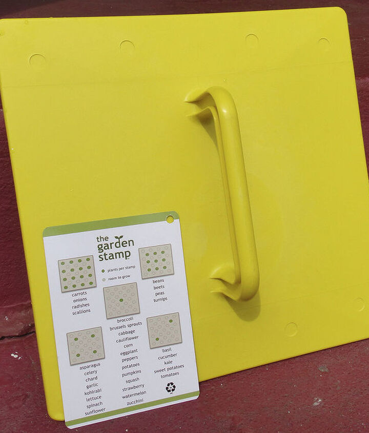 Place seeds following the Easy Dot Planting Guide included with your Stamp.