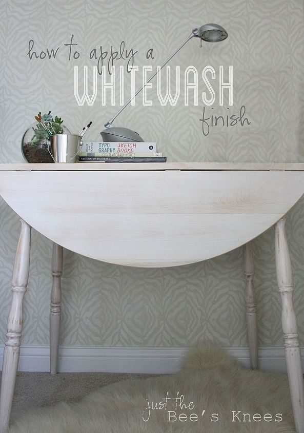 Learn how to easily whitewash your old furniture!