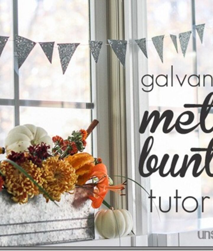 http://www.hometalk.com/688610/rustic-thanksgiving-table-with-galvanized-metal-bunting-tutorial
