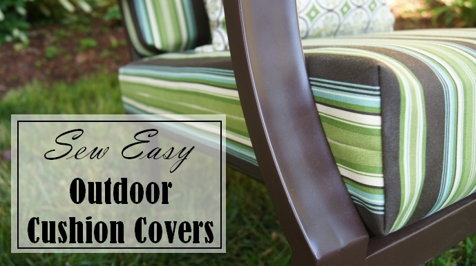 sew easy way to cover those old outdoor cushions hometalk