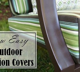 & Sew Easy Way to Cover those Old Outdoor Cushions! | Hometalk
