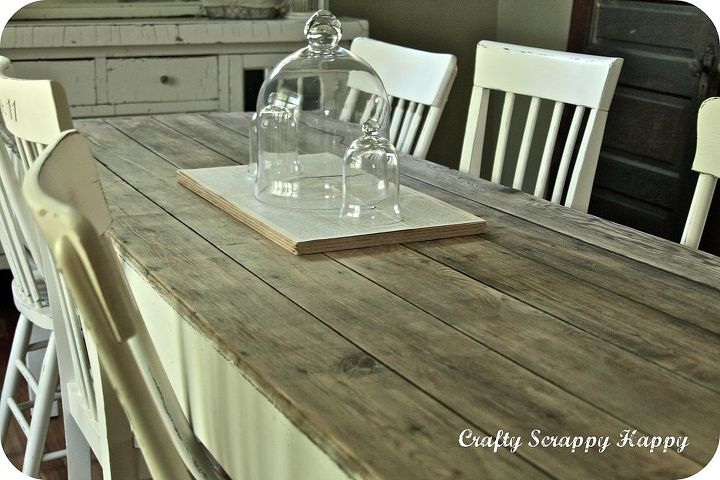 and up cycled dining room table, painted furniture