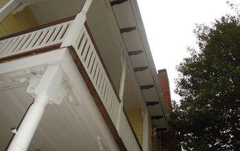 repairing old wood amp addressing peeling paint, curb appeal, home maintenance repairs, windows, 2nd floor balcony on my old house before