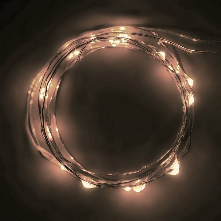 fairy light jars, lighting, seasonal holiday decor, These LED string lights can be found on Amazon or other hardware or lighting retailers Here s an affiliate link to the lights on Amazon