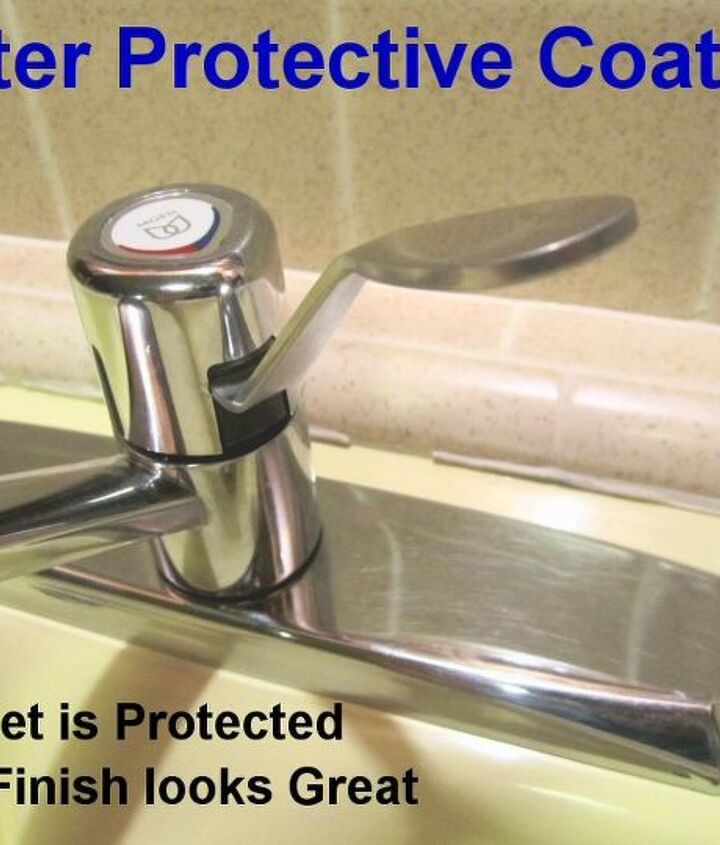 After Protective Coating: Self-Cleen ST3 coating on the faucet added a new shine and protects it against hard water deposit build-up.  It also resists the growth of bacteria, mold and mildew.