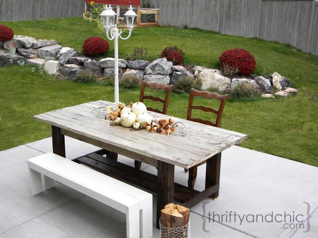Outdoor Farmhouse Table Hometalk