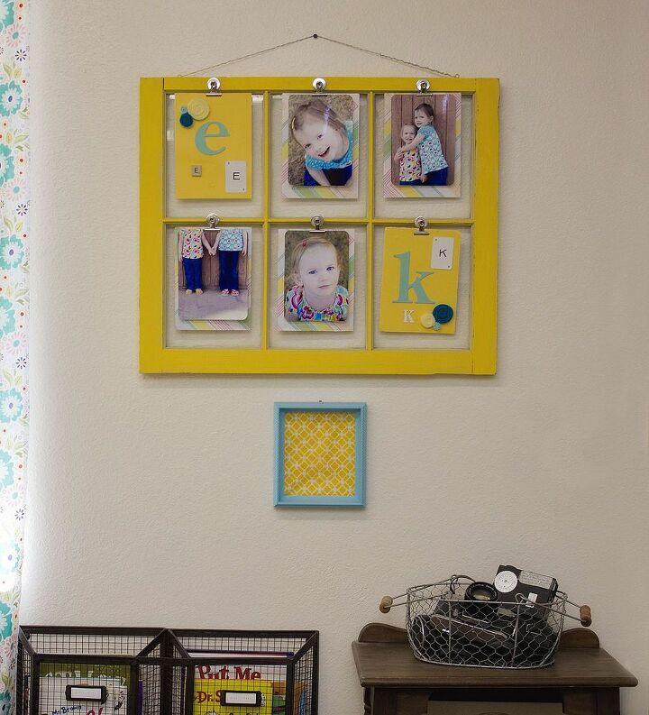 re purposed vintage window, crafts, repurposing upcycling