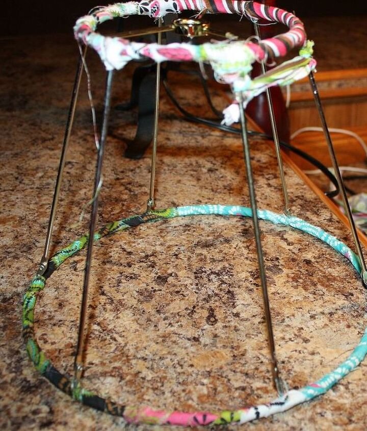 Start wrapping and tying knots