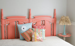 headboard love, bedroom ideas, painted furniture, repurposing upcycling
