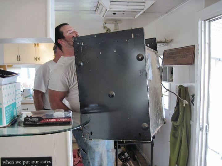 oh dear the oven has to go, appliances, home decor, kitchen design, shelving ideas
