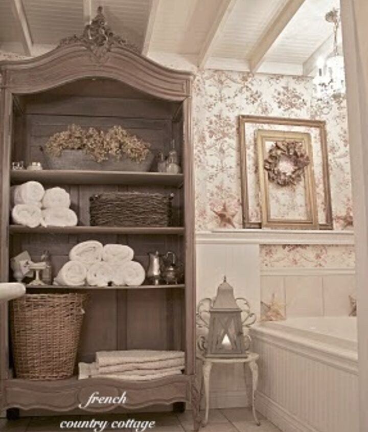 french cottage bathroom before amp after, bathroom ideas, home decor, home improvement