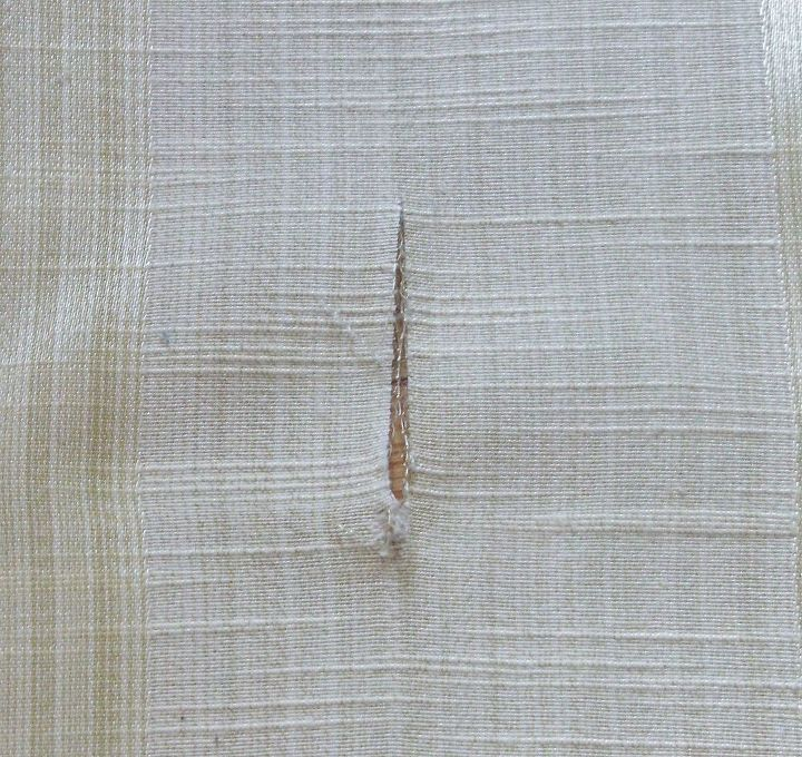 a quick way to fix a rip in a curtain, home maintenance repairs, reupholster, window treatments