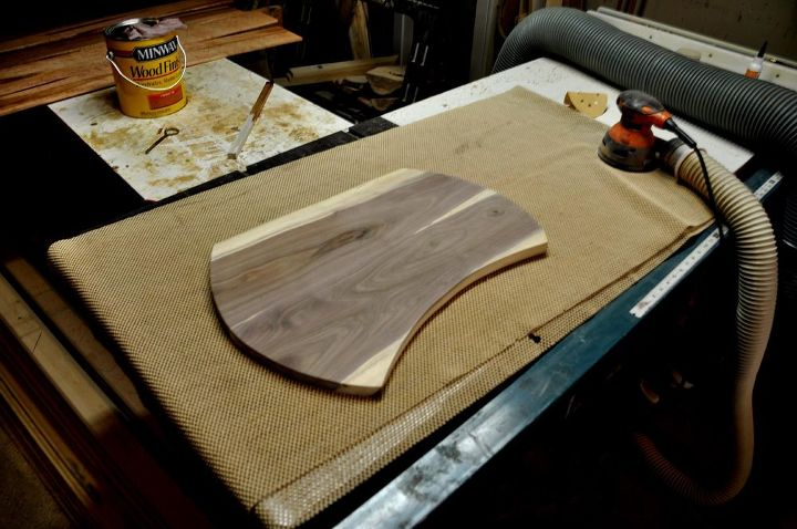 sweetlooking unique cutting boards. walnut and leather lap desk  crafts Tori s getting sanded in the shop Walnut Leather Hometalk