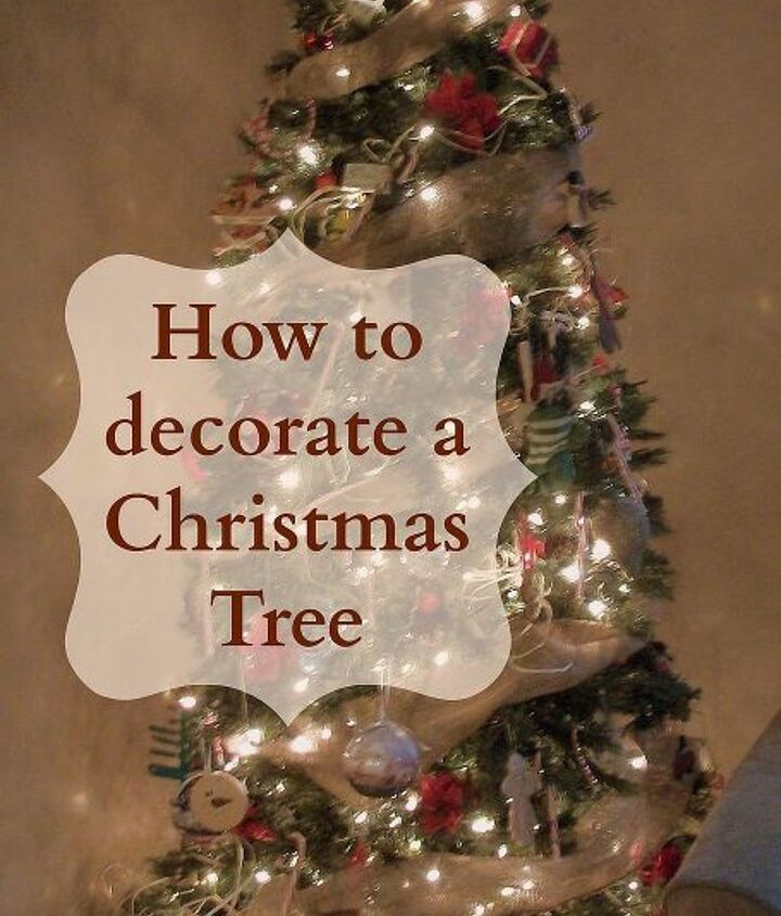 Simple step by step instructions on how to decorate a Christmas tree.