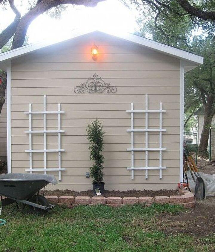 Back end of finished shed