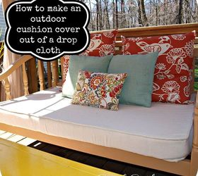 How To Make An Outdoor Cushion Cover Out Of A Drop Cloth, Crafts, Outdoor