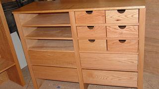 q buying new closets need advice, closet, painted furniture, custom lower closet unit