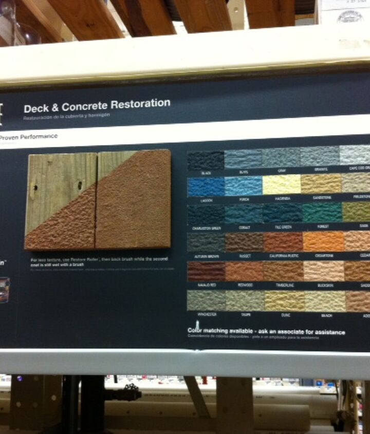 does anyone have experience or warnings about using restore deck amp concrete, concrete masonry, decks