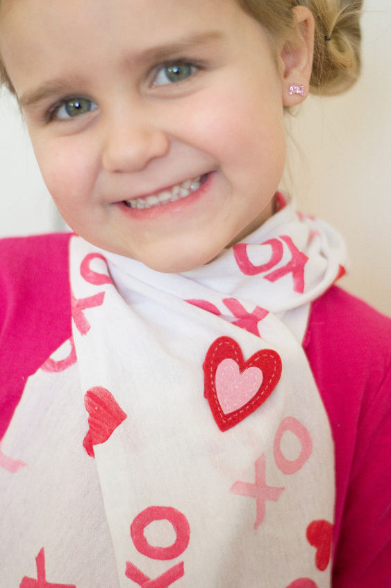 upcycled t shirt valentine s day scarf valentinesday, crafts, repurposing upcycling, This is a super fun projects to do with your kiddos this week valentinesday