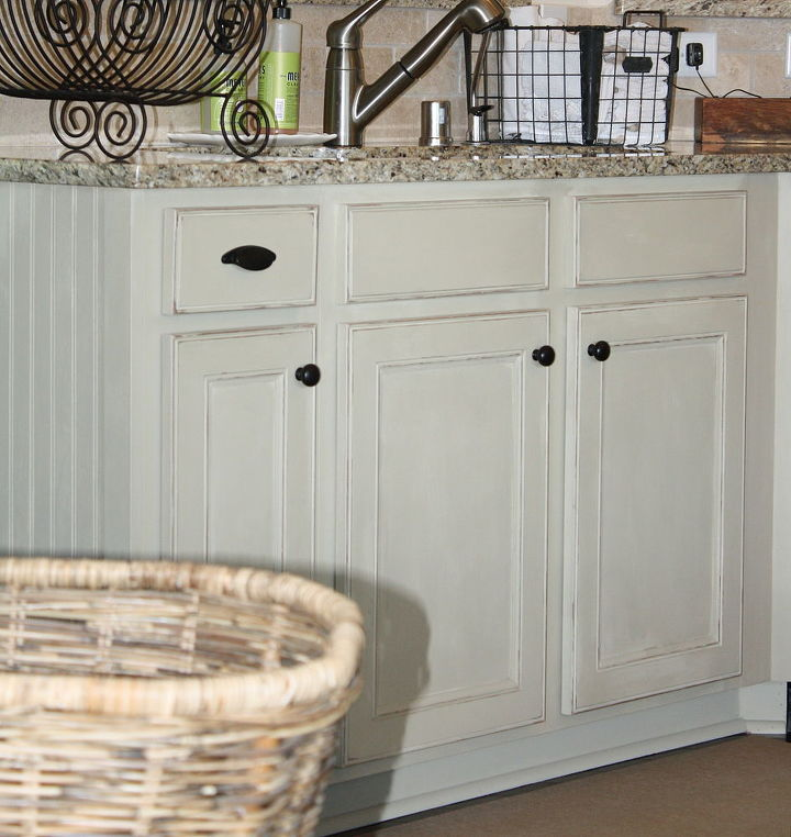 Chalk Painted Kitchen Cabinets Hometalk - Country gray kitchen cabinets
