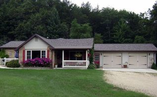 our cottage face lift, curb appeal, doors, garage doors, garages, Garage doors done my favorite time of year